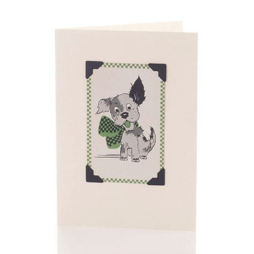 Vintage Card - Laughing puppy