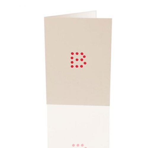 Letter B - dice card