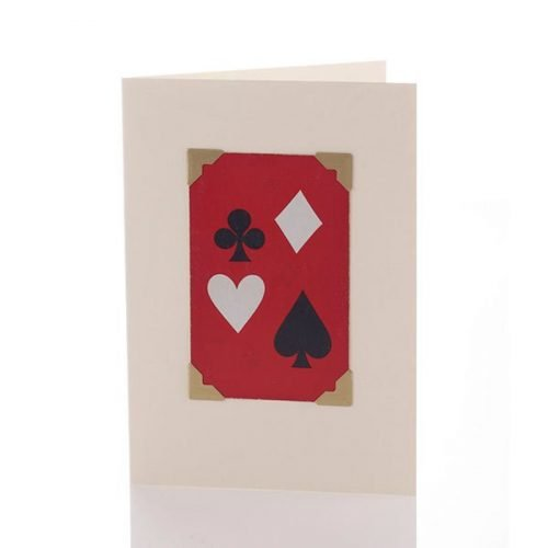 Vintage Card - Playing Card - Red