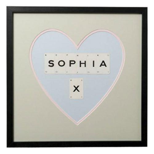 Personalised sweetheart frame
