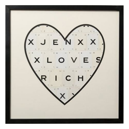 Personalised names heart frame