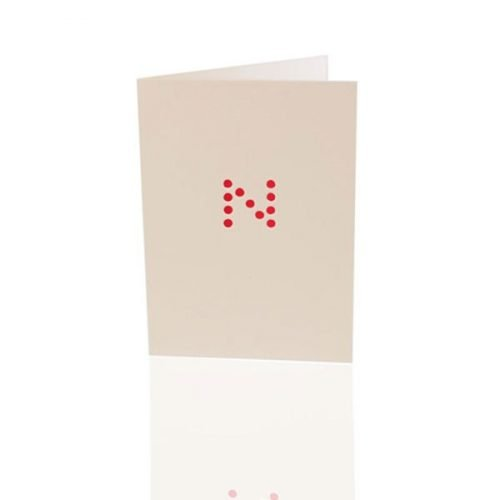 Letter N - dice card