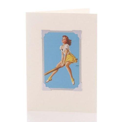 Vintage Card - Seesaw Suzie