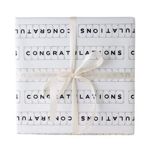 Congratulations gift wrap