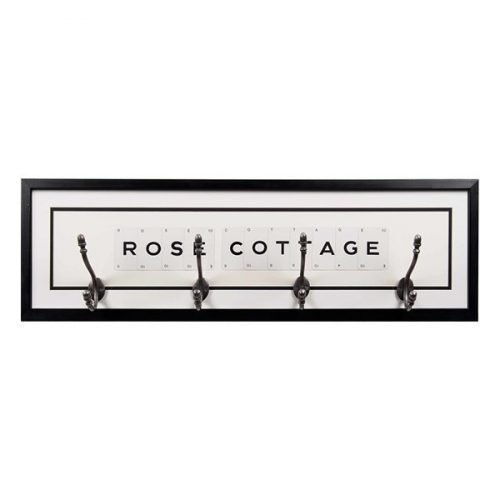 Personalised coat hook - cottage
