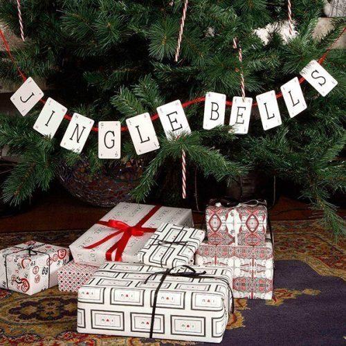 Jingle Bells Christmas Vintage Bunting