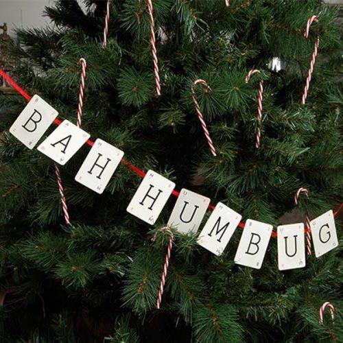 Bah Humbug Christmas Vintage Bunting