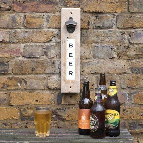 Beer magnetic bottle opener