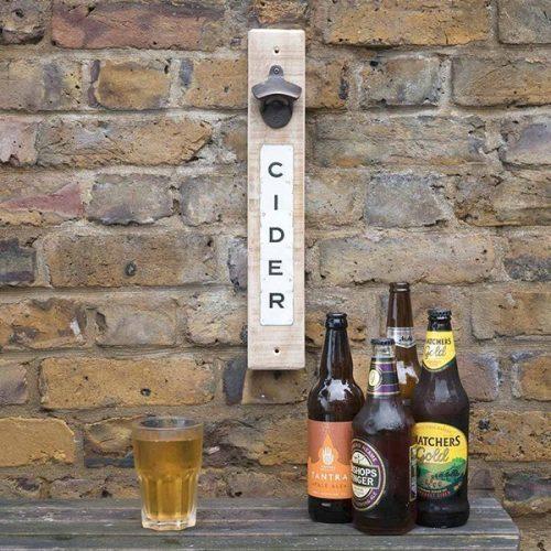 Cider magnetic bottle opener