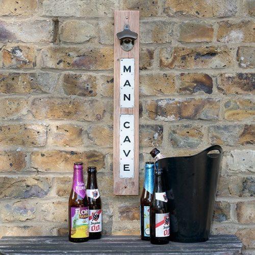 Man Cave magnetic bottle opener