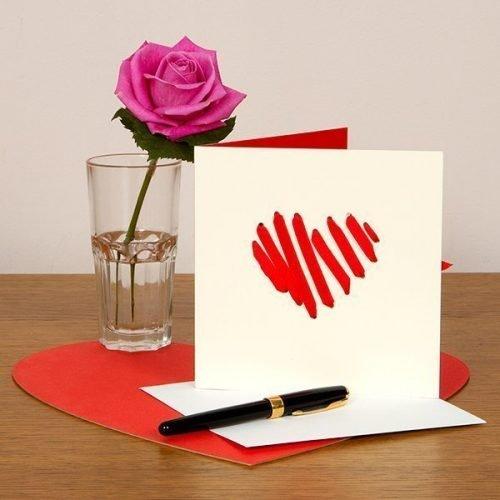 Valentine's Heart Ribbon card