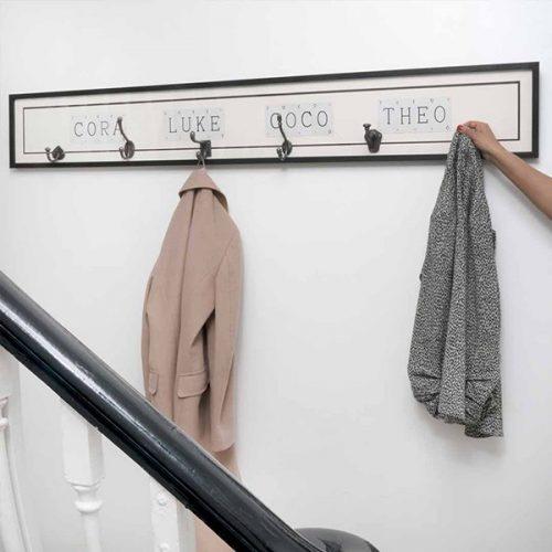 Personalised name coat hook