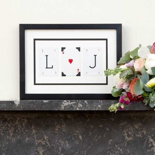 Personalised love frame (Initials)