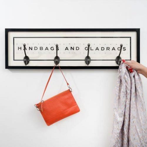 Handbags and Gladrags coat hook