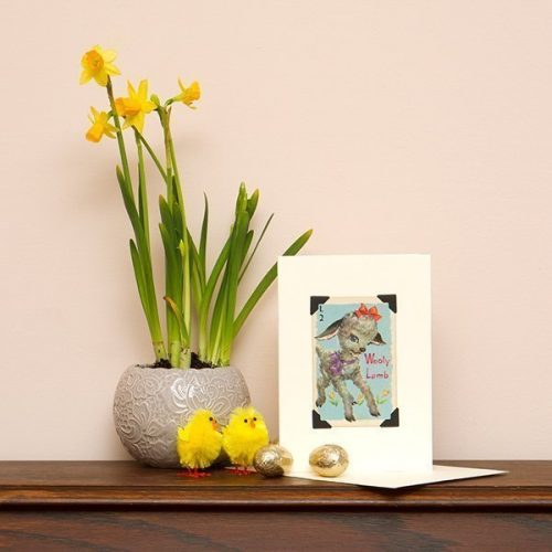 Wooly Lamb Easter Card