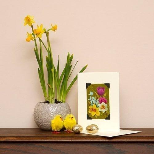 Spring Flowers Easter Card
