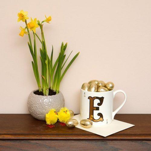 Easter Gold Letter Mug