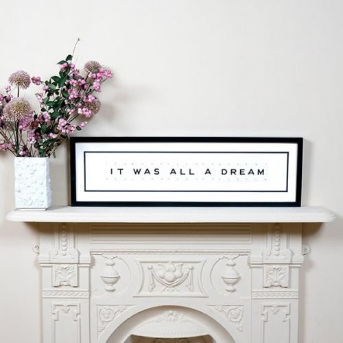 It Was All A Dream Vintage Letter Sign