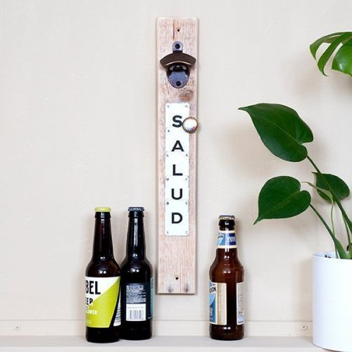 Upcycled Magnetic Bottle Opener Salud