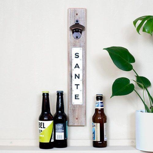 Upcycled Magnetic Bottle Opener Sante
