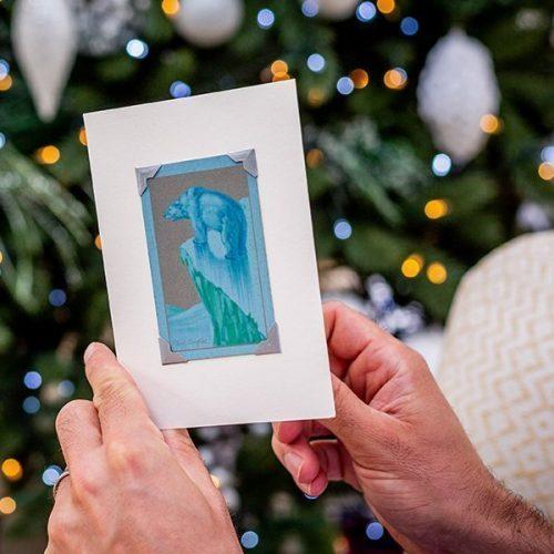 Vintage Polar Bear Christmas Card