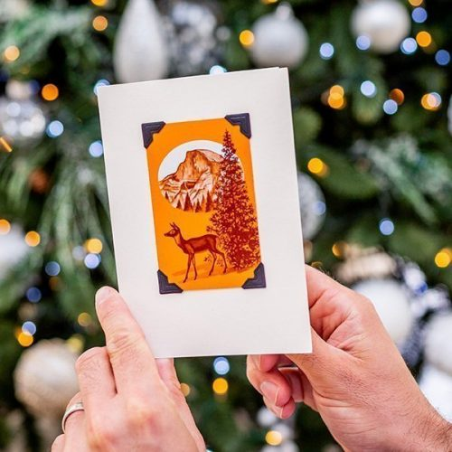 Vintage Young Reindeer Christmas Card