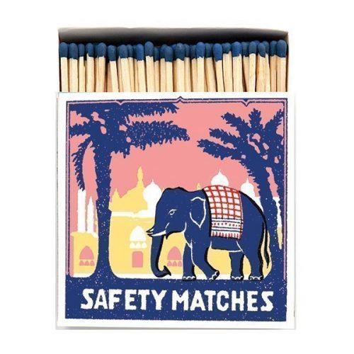 Luxury Box Of Large Matches - Pink Elephant
